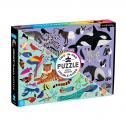 Animal Kingdom 100 Piece Double-Sided Puzzle จิ๊กซอว์ 100 ชิ้น ที่ต่อเล่นได้ 2 ฝั่ง 1 กล่องต่อได้ 2 ภาพเลยค่ะ